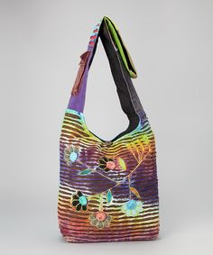 Another great find on #zulily! Rising International Purple Flower Tie-Dye Crossbody Bag by Rising International #zulilyfinds