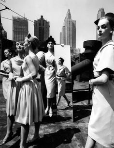 Evelyn + Isabella + Nena + Mirrors, New YorkVogue, 1962Photographer: William Klein