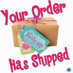 Your order has shipped.  #ThirtyOne #ThirtyOneGifts #31Party…