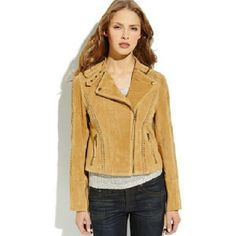 Ookie & Lala 100% Leather Tan Suede Jacket 100% suede tan jacket, only been worn a few times. Perfect for transitional months and lightweight layering! Beautiful braided and zipper details. Jackets & Coats