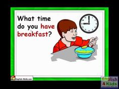 ESL  time  numbers  o clock  wake up   daily routine