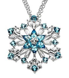 Blue and White Topaz Snowflake Pendant Necklace in Sterling Silver Gems Jewelry, Cute Jewelry, Jewelery, Jewelry Accessories, Silver Jewelry, Snowflake Jewelry, Snowflake Ring, Magical Jewelry, Fantasy Jewelry