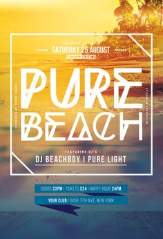 Pure Beach Flyer by styleWish (Download PSD file)