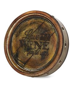 8-Inch Pavilion Gift Company 22073 Always Time for Wine Wine Barrel Plaque