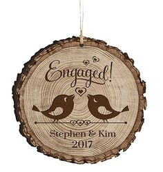 Personalized Newly Engaged Couple Our First Christmas Holiday Gift Ornament 2017 Custom Engagement gift ideas for couple him her by DaySpring International Engaged -- Continue to the product at the image link. (This is an affiliate link) Christmas Engagement, Disney Engagement, Engagement Ornaments, Engagement Gifts For Couples, Engagement Couple, Christmas Couple, First Christmas, Christmas Holiday, Christmas Ideas