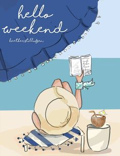 Weekend Quotes : QUOTATION – Image : Quotes Of the day – Description Let the long weekend at the beach begin! Sharing is Caring – Don't forget to share this quote ! Illustration Mode, Illustrations, Beach Illustration, Happy Saturday, Happy Weekend, Long Weekend, Hello Saturday, Hello August, Thursday