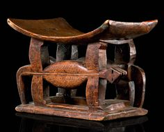 Africa | Stool from the Ashanti people of Ghana | Wood | Stools are eminently personal to their owner containing a segment of their spiritual being and no one would ever sit on anothers stool.