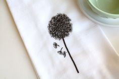 Make a Wish Dandelion-Oh So Homey Kitchen Flour Sack Towel $10.00, via Etsy.