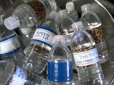 Graduation Water Bottles