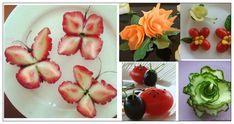 Ecco come intagliare e decorare la frutta. Watermelon Art, Watermelon Carving, Halloween Fruit, Fruit And Vegetable Carving, Food Carving, Food Garnishes, Cooking Gadgets, Logo Food, Side Dishes Easy