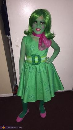 Inside Out - Disgust DIY Halloween Costume