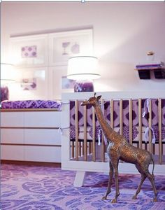 Radiant Orchid Nursery4 Radiant Orchid in a Babys Nursery  Pantone Colour of the Year 2014