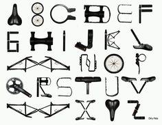 Bicycle alphabet