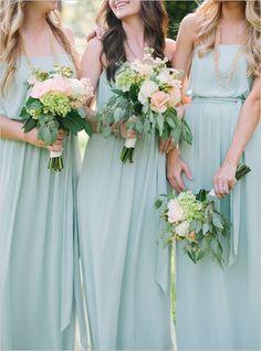 Beautiful Bridesmaids Trends - Mint