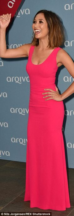 Give us a twirl! Myleene did her best pageant queen impression as she spun around to show ...