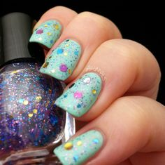 BeginNails: Every Journey Has a Beginning: Vixen Lacquers Summer Trio Swatch and Review.  Save The Mermaids swatched by @Beginnails (Kristi).