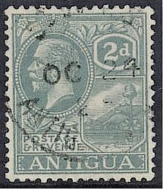 Antigua two penny stamp. North America, Vintage World Maps, Stamps, Around The Worlds, British, Antigua, Seals, Postage Stamps, Stamp