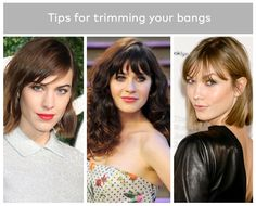 How to Trim Your Own Bangs—Without Ending up With Beyonce's Baby Fringe | Beautylish