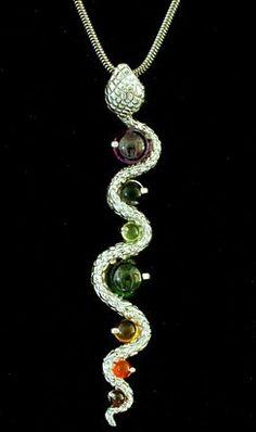Silver Kundalini Chakra Pendant