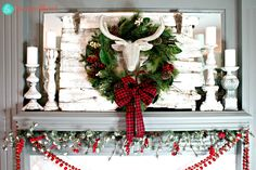 Christmas Mantel Decor | Magic Brush
