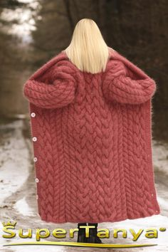 Only Cardigan, Long Cardigan Coat, Red Cardigan, Knitted Coat, Mohair Sweater, Pastel Red, Diy Scarf, Baby Knitting, Mantel
