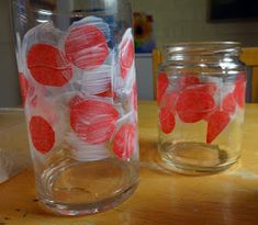 How to make a stained glass poppy votive Here's a fun little project that would make a lovely teacher or hostess gift for the holidays. Candle Jars, Mason Jars, Candle Holders, Candles, Nursing Home Crafts, Remembrance Day Art, Poppy Craft, Anzac Day, Art Lesson Plans