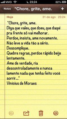 Vinicius de Moraes - lindo!