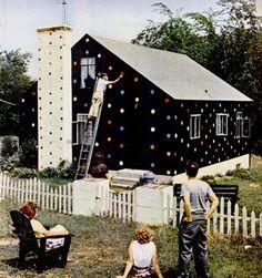 polka dots house