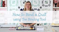 """video on how to bind a quilt (info about using binding tool starts at 15:50, once quilt is bound all around, save 12"""")"""