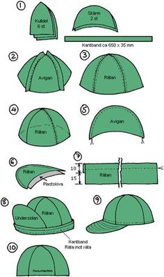 Hat Patterns To Sew, Clothing Patterns, Sewing Patterns, Sewing Hacks, Sewing Crafts, Sewing Projects, Leather Hats, Leather Craft, Sewing Clothes