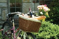 Nantucket Bicycle Basket...need one of these for my bread & wine & cheese!