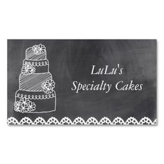 1108 best bakery business cards images on pinterest bakery chalkboard bakery business card with cake colourmoves