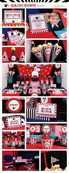 ♥ Magic Show Birthday Party Theme ♥  II Shop Them Here: https://www.etsy.com/shop/LeeLaaLoo/search?search_query=b100&order=date_desc&view_type=gallery&ref=shop_search