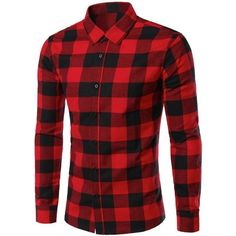 Slimming Color Block Plaid Shirt Collar Long Sleeves Shirt For Men ($18) ❤ liked on Polyvore featuring men's fashion, men's clothing, men's shirts, men's casual shirts, mens color block shirt, mens long sleeve shirts, mens slim fit casual shirts, mens longsleeve shirts and mens slim shirts