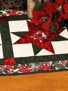 Quilting - Christmas Decorations & Wall Quilts - Christmas Stars Table Runner Quilting Pattern