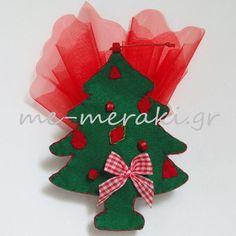 Handmade mpomponiera Me Meraki Mpomponieres Χειροποίητη μπομπονιέρα βάπτισης, τσόχα στολίδια κρεμαστά για το χριστουγεννιάτικo δέντρο. Με Μεράκι Μπομπονιέρες Μπομπονιέρα Βάπτισης μπομπονιέρες βάπτισης   www.me-meraki.gr Christmas Ornaments, Holiday Decor, Christmas Jewelry, Christmas Decorations, Christmas Wedding Decorations