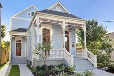Louisiana Homes, New Orleans Louisiana, The Sims, Custom Home Builders, Custom Homes, New Orleans Architecture, Southern Architecture, Creole Cottage, Home Builders Association
