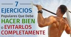 El ejercicio es importante para una óptima salud, pero una lesión podría dejarlo fuera por días, así que evitar las lesiones es una consideración importante. http://ejercicios.mercola.com/sitios/ejercicios/archivo/2015/10/02/ejercicios-populares-que-es-mejor-evitar.aspx
