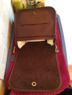 I plan on at least attempting to alternate posts about running and thrift shopping as much as possible. Since I went thrift shopping today,. Coach Purses, Coach Handbags, Coach Bags, Vintage Coach, Vintage Bag, Coach Leather Bag, Leather Repair, Cleaning Solutions, Vintage Handbags