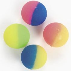 12 Two-tone Icy Super Bouncey Balls -Fun 32mm High Bounce Balls -Great Stocking Stuffers (Toy)