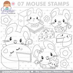 75%OFF - Mouse Stamps, Mice Stamp, Digital Stamps, COMMERCIAL USE, Digi Stamp, Mouse Digistamp, Mouse Coloring Page, Mice Clipart, Cheese Planner Stickers, Colorful Drawings, Easy Drawings, Clipart, Dog Coloring Page, Christmas Coloring Pages, Scrapbooking, Digi Stamps, Christmas Colors