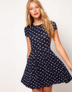 HORSE print dress. cuuuttte!