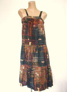 Very Cute Vintage 1960s 1970s Cotton Sun Dress by VintageZipper, $20.00
