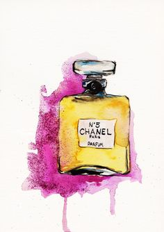 Chanel No 5 Print of Original Watercolor by TalulaChristian