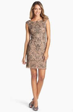 Adrianna Papell Beaded Mesh Dress available at #Nordstrom