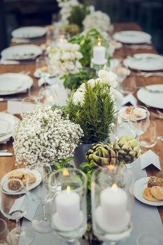 Image result for rustic italian  herbs table decorations