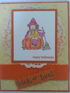 Stampin Up Pumkin Halloween Cards by BowAttack on Etsy