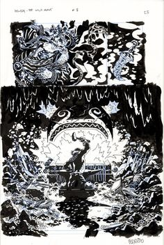 Splash Page Comic Art :: For Sale Artwork :: Hellboy The Wild Hunt by artist Duncan Fegredo