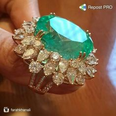 Columbian Emerald and Diamonds ~ Farah Khan Fine Jewellery