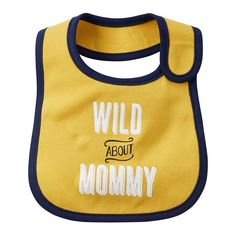 Baby Boy Carter's Embroidered Family Statement Applique Bib, Yellow